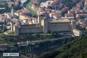 la Rocca Albornoziana vista dal Monteluco