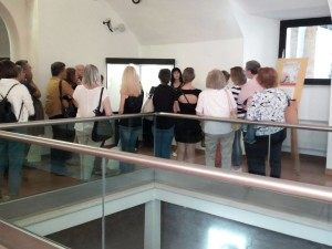 Visitatori mostra a Spoleto