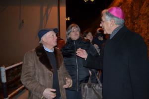 Arcivescovo con sindaco Benedetti e presidente Università Agrari