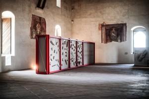 05/07/2018 61° Festival di Spoleto, nella foto l'installazione Canapa Nera alla Rocca Albornoziana