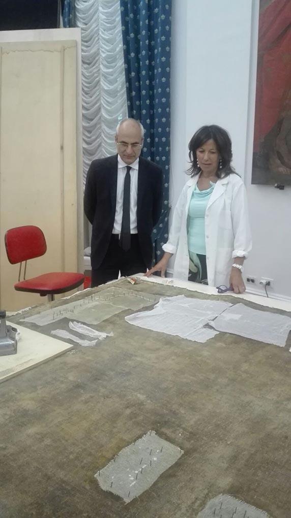 Fabrizio Curcio in visita al Museo diocesano di Spoleto
